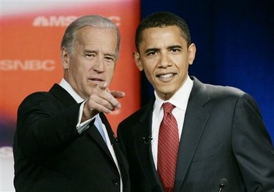 Senator Joe Biden dan Barack Obama