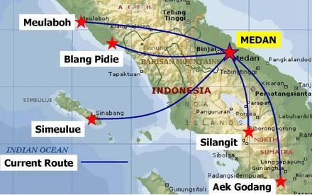 susi air Routes - Medan