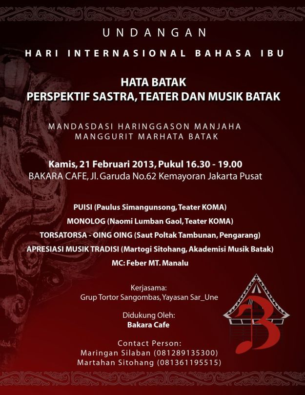 poster undangan acara bahasa batak